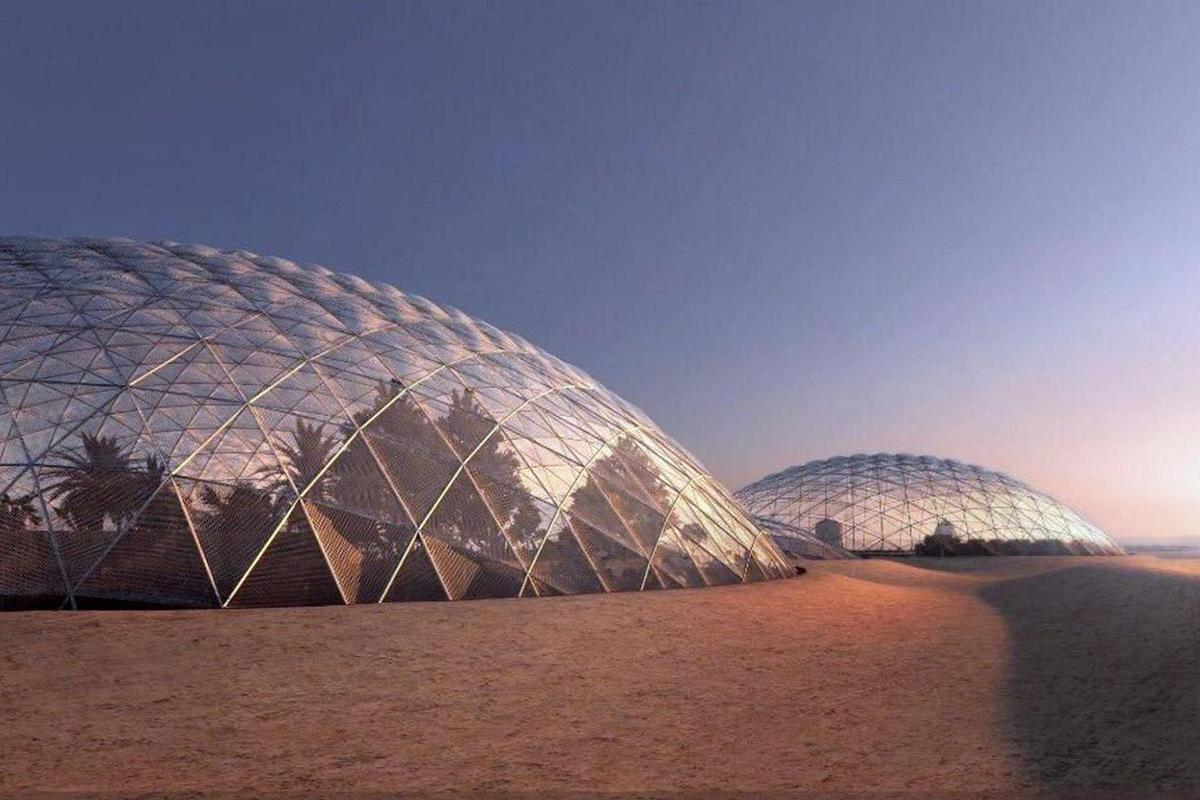 The giant Mars Science City will be a simulation for a city on the Red Planet by 2117