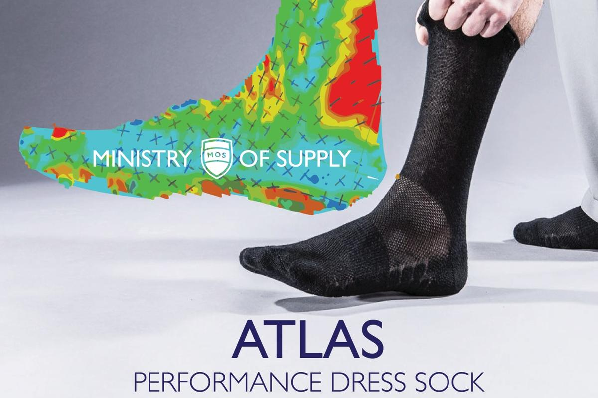 Atlas is Ministry of Supply new range of socks made with carbonized coffee