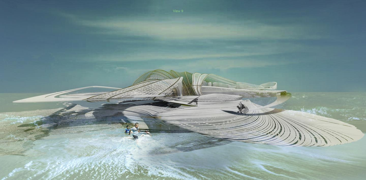 The Recycled Ocean Plastic Resort is the latest in a long line of water-based designs from Krasojević and is best taken as food for thought