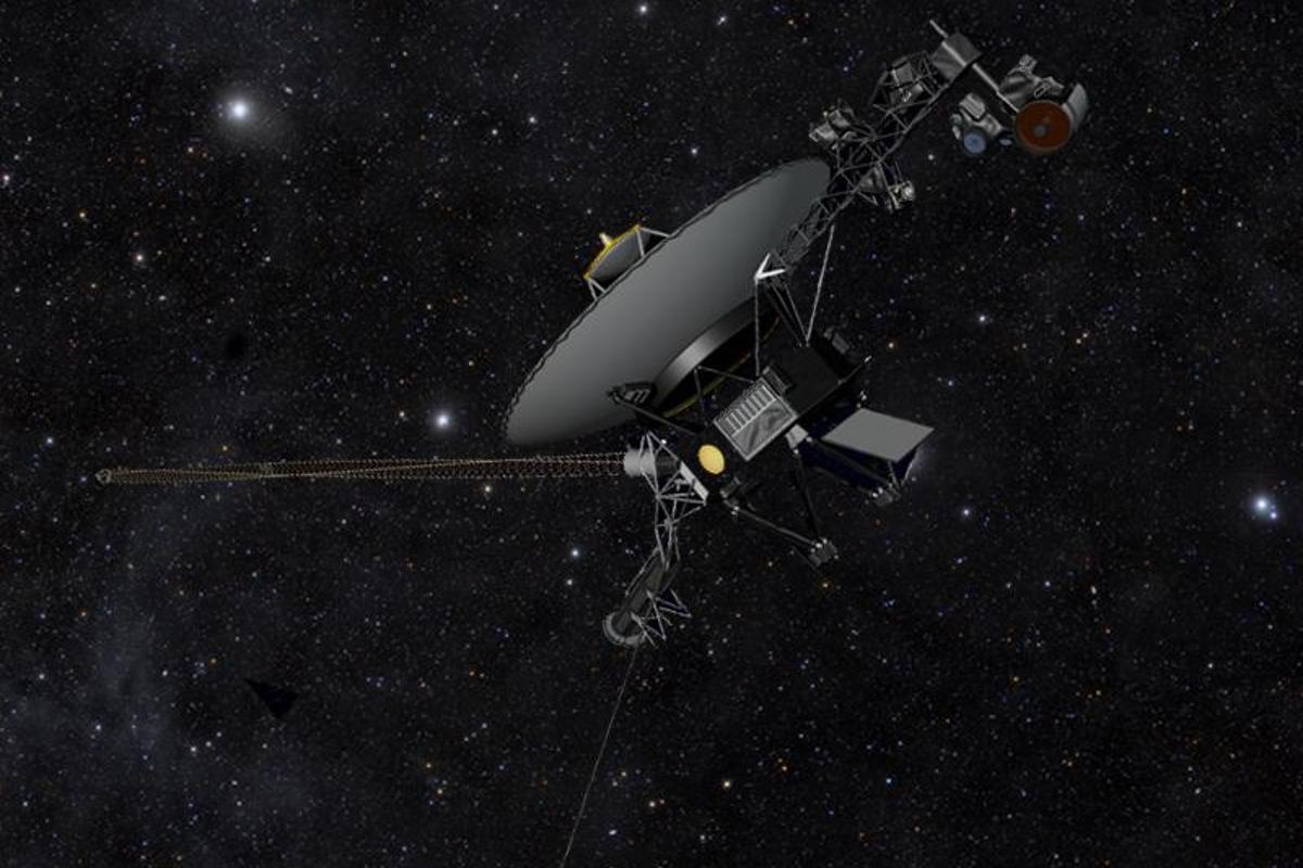 Artist's impression of Voyager 1, which is now 11 billion miles (18 billion km) from Earth