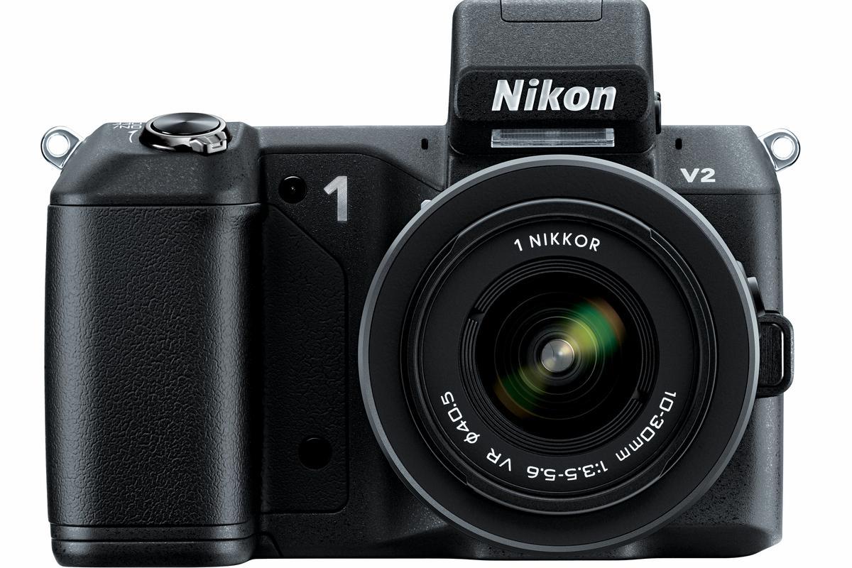 The Nikon 1 V2 features a 14.2-million-pixel CX-format CMOS sensor
