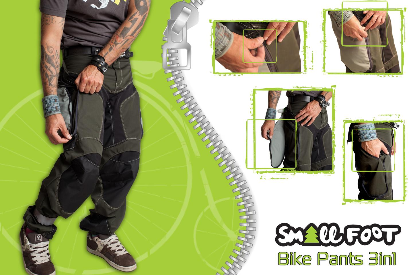 Any Exit Small Foot pants are designed specifically for biking