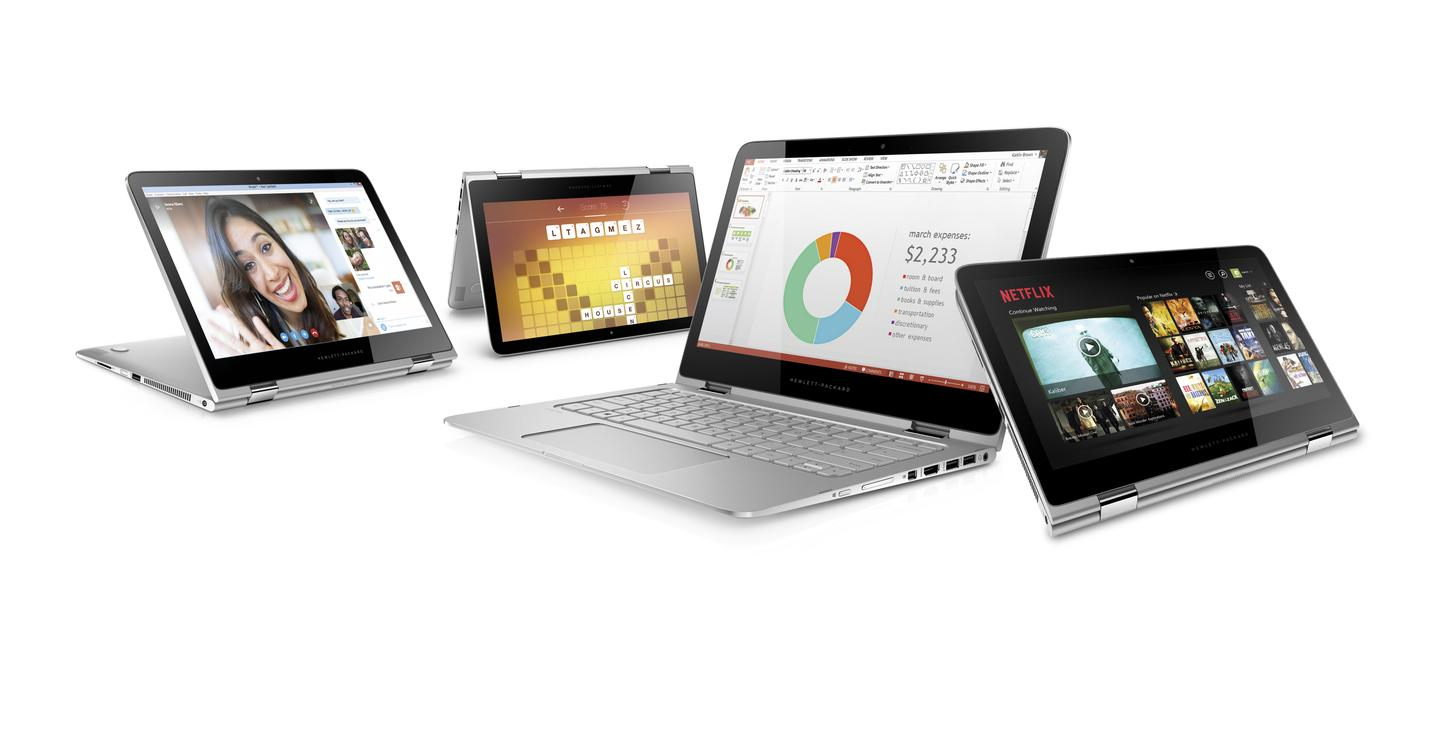The HP Spectre x360 sports new 360 degree hinges that allow it to be used like a traditional laptop or like a chunky tablet