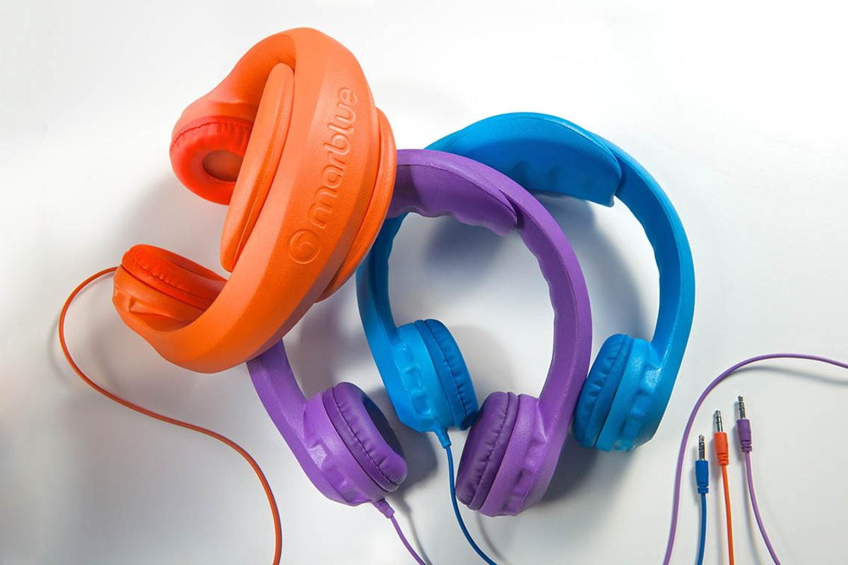 HeadFoams are child-friendly, child-proof headphones made from EVA foam (Photo: Thomas Libis)