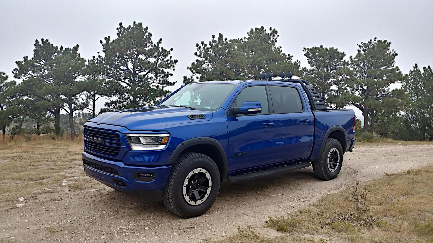 This 2019 Ram 1500 Big Horn with a Mopar package treatment has several upgrades meant to enhance its power delivery, off-road capability, and usefulness in the field