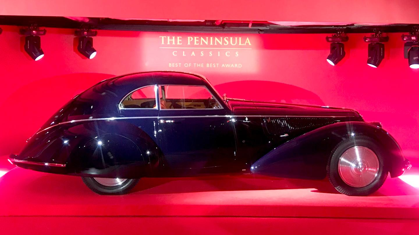 The highly decorated 1937 Alfa Romeo 8C 2900B Berlinetta which won the 2018 Peninsula Classics Best of the Best Award in Paris on February 7, 2019