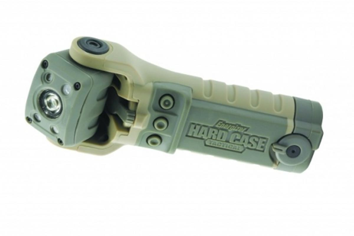 The Hard Case Tactical flashlight can withstand a 15 foot (4.5m) drop and immersion in water.