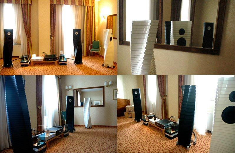 The Teti Extreme Loudspeakers on display at the recent Top Audio Video Show