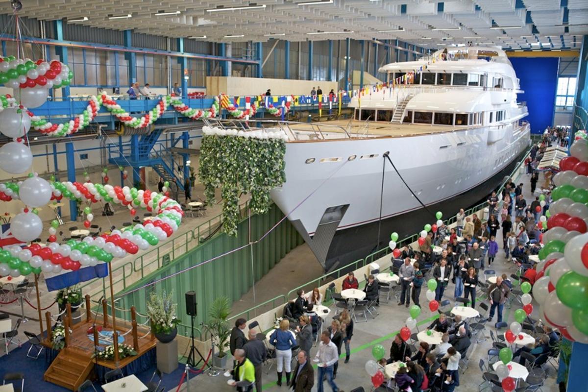 Feadship's new Hampshire II luxury motoryacht prepares to launch