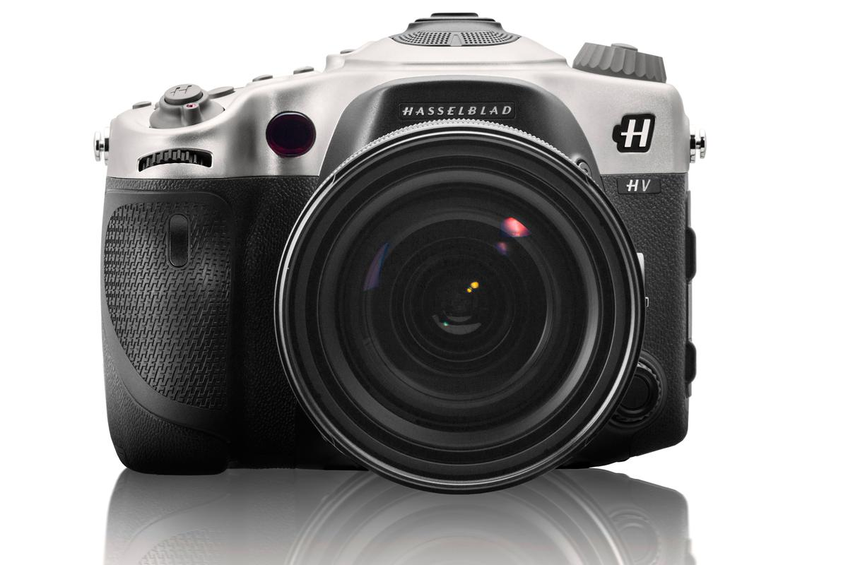 The Hasselblad HV is finished with details like titanium controls including a chunky mode dial, and obviously the iconic Hasselblad name and H logo