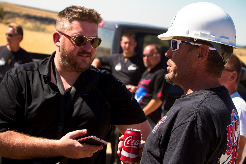 New Atlas's Loz Blain speaks with rocket engineer Scott Truax at the launch site