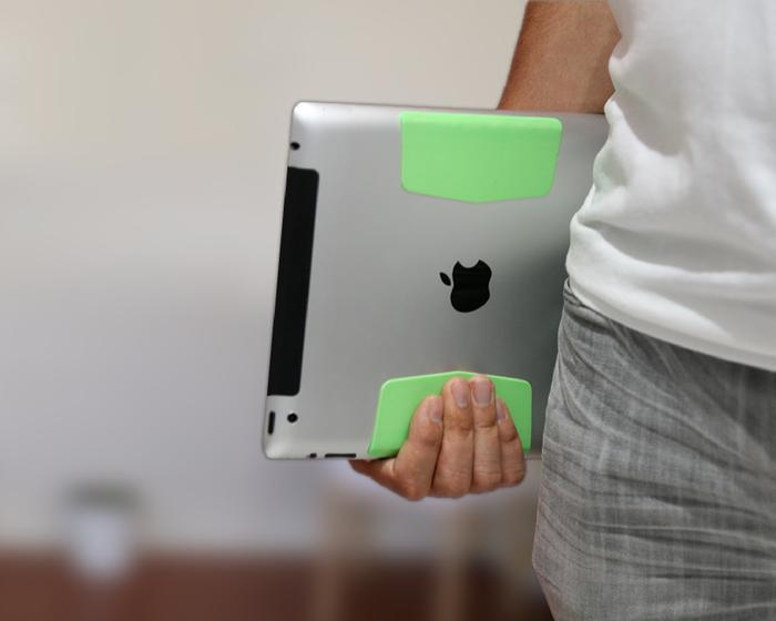 The grippy surface also makes the device easier to hold