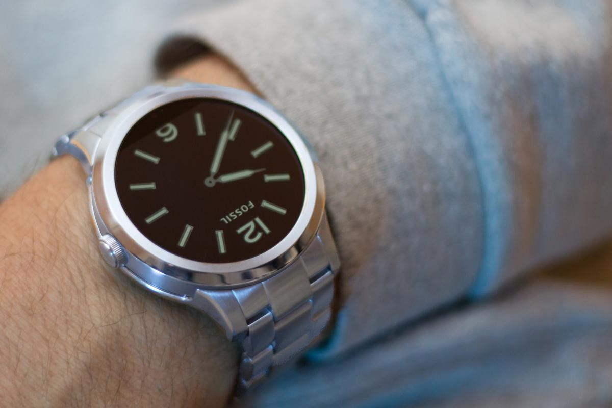 The Fossil Q Founder is an attractive Android Wear watch with a steel band, for $295