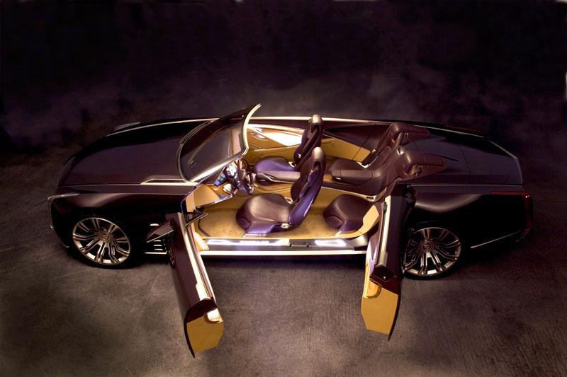 The Cadillac Ciel luxury open tourer concept car interior