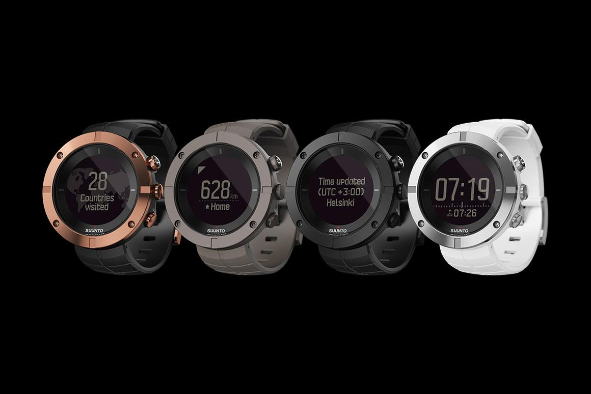 The Suunto will be offered in four styles: Copper, Slate, Carbon and Silver