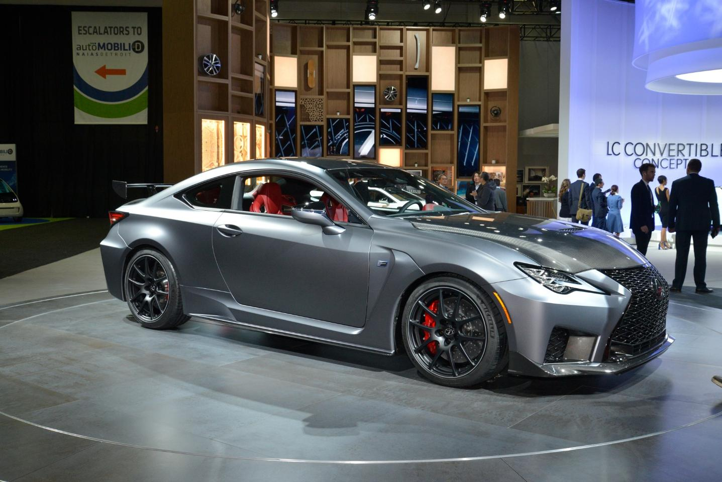 Lexus introduced a track-ready2019RC F at the Detroit Auto Show