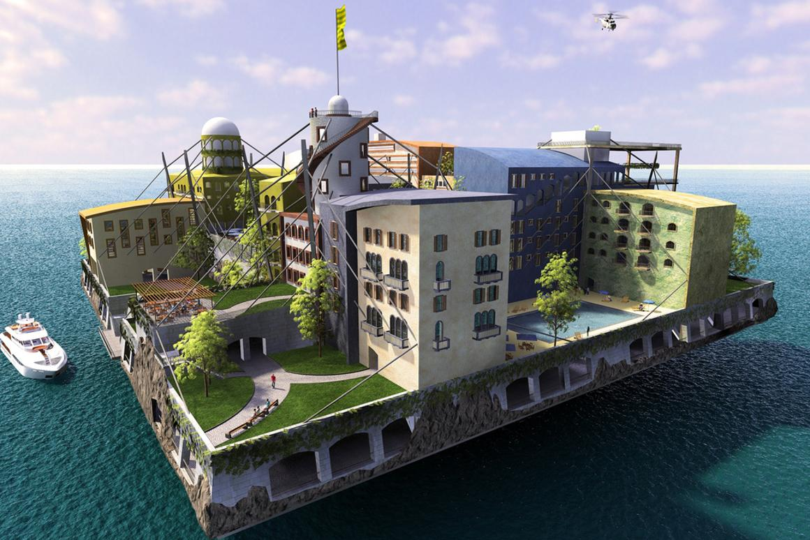 Paypal founder Peter Thiel is investing in a project that hopes to create floating cities that are free from political agendas (image by Seasteading Media)