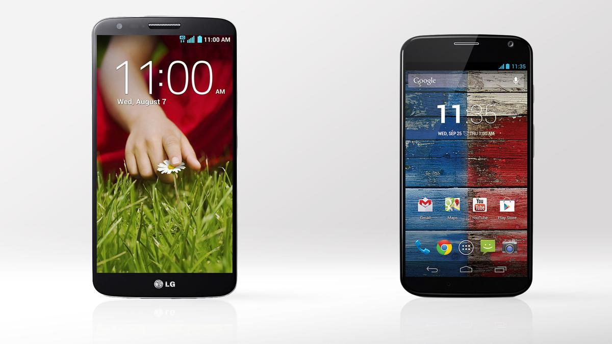 Gizmag compares the specs and features of the LG G2 and Moto X