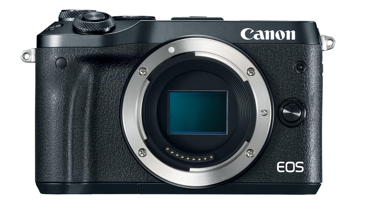 The Canon EOS M6 mirrorless camera will be available in black or silver finishes