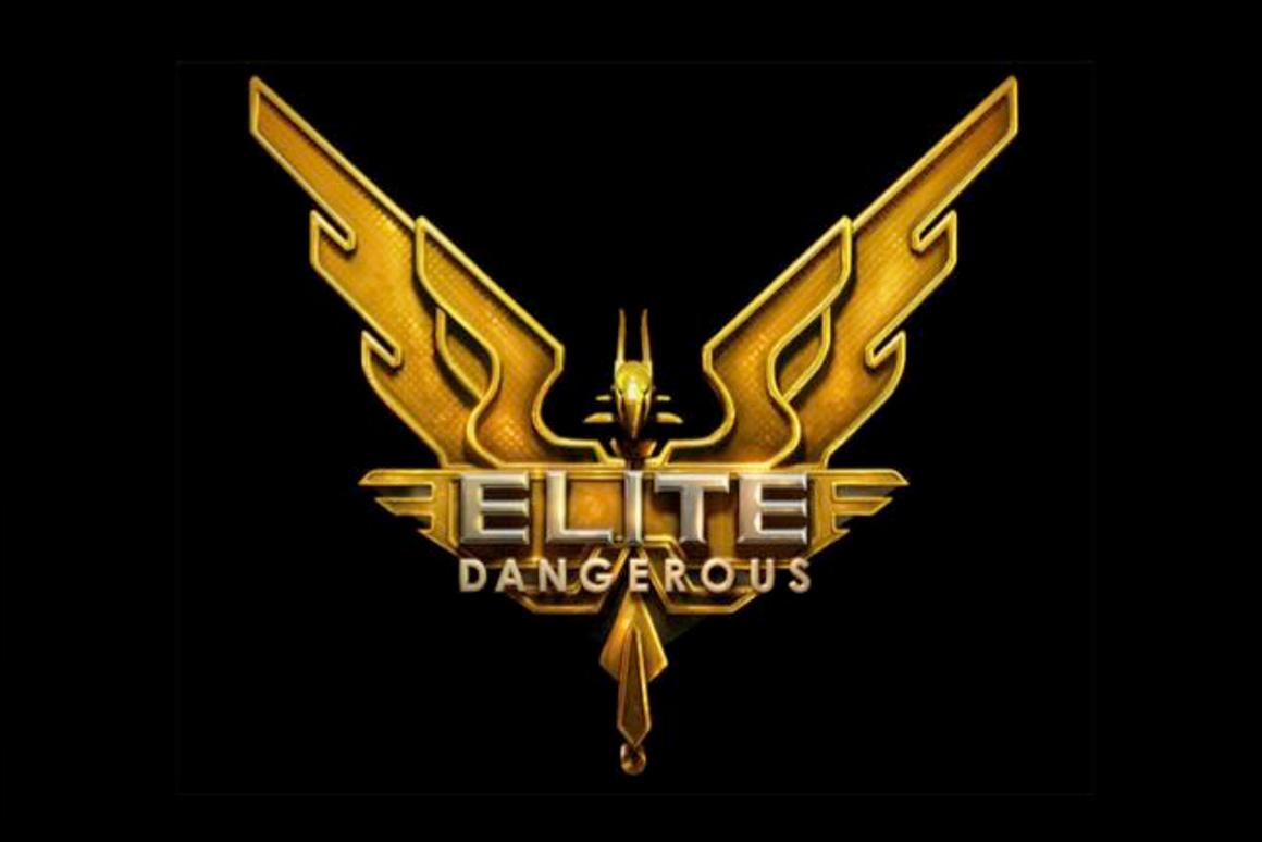 The preliminary logo for Elite: Dangerous, now being funded through Kickstarter