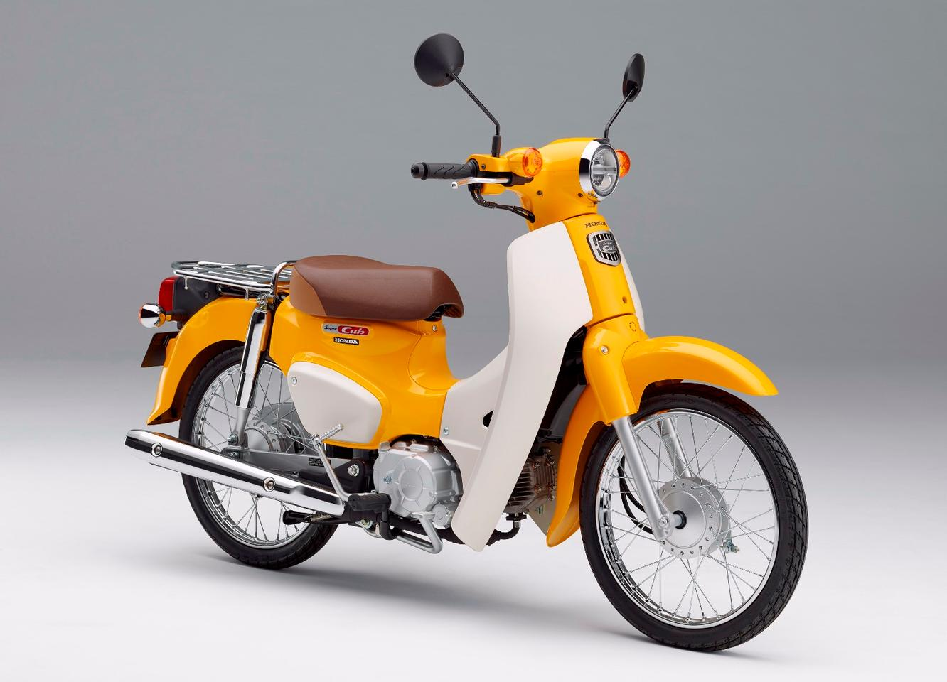 The Honda Super Cub 50 is still in production in Japan, as a direct tribute to the small bike that started it all