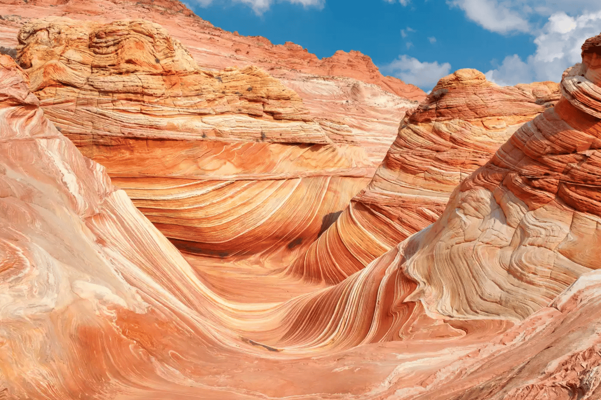 Located on the border of Arizona and Utah, the Wave looks like it might a destination on Mars