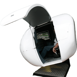 The OVO-4 is a full-motion, fully-enclosed light aircraft flight simulator, that can be yours for just under $60,000 (Photo: VirtualFly)