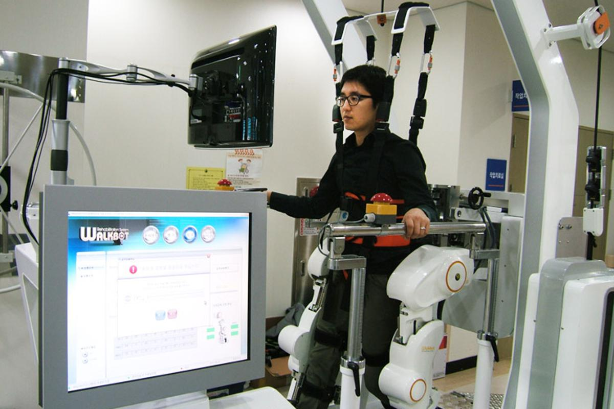 The Walkbot can be used to rehabilitate patients recovering from stroke, spinal cord injuries, and many other conditions