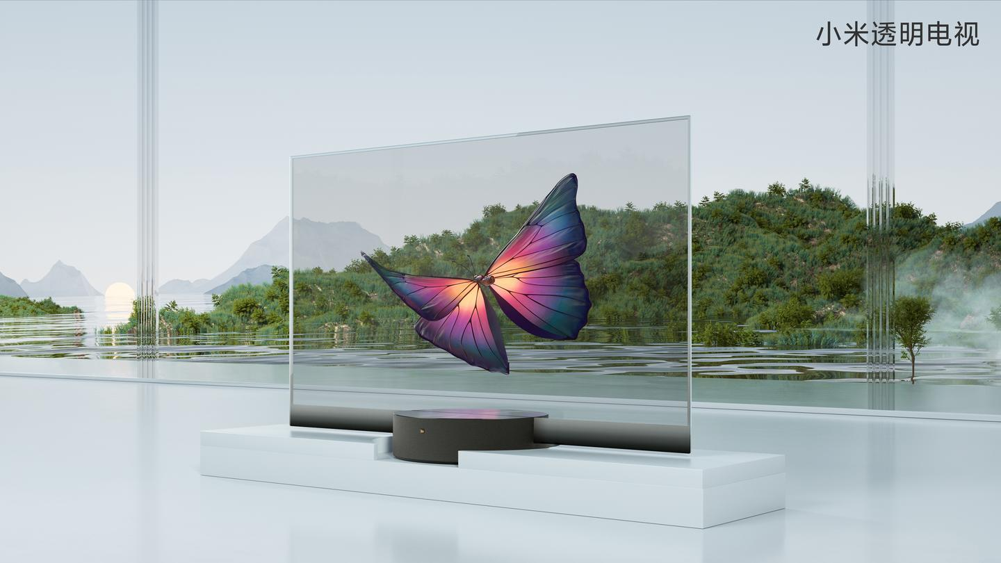 "Xiaomi says its transparent TV offers an ""unprecedented visual experience"""