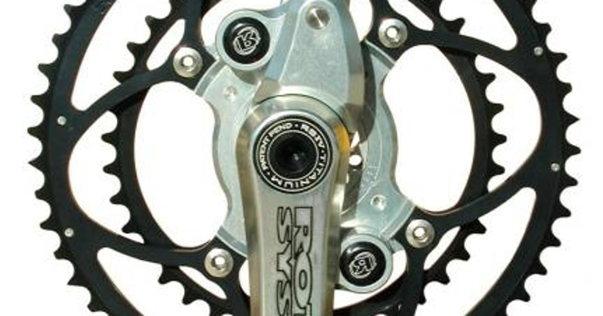 Offset bicycle crank boosts power