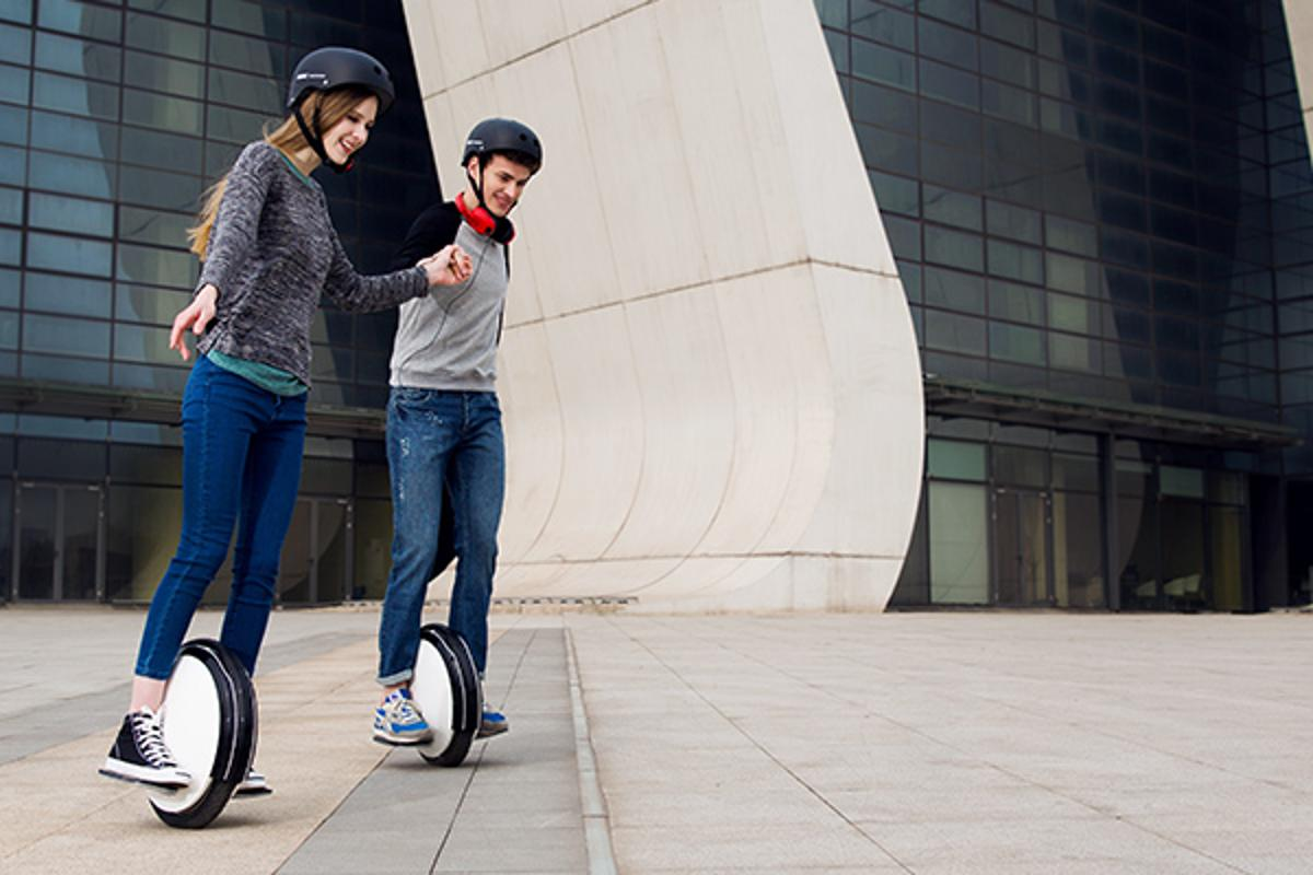 The single-wheeled Segway will take a bit more getting used to than the two-wheeled Segway