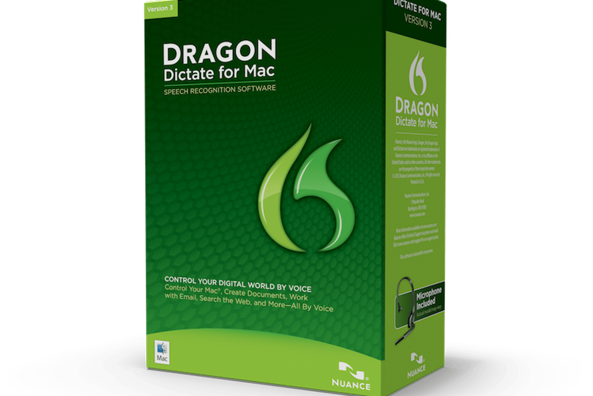 Dragon Dictate for Mac 3 is available in both boxed and digital versions