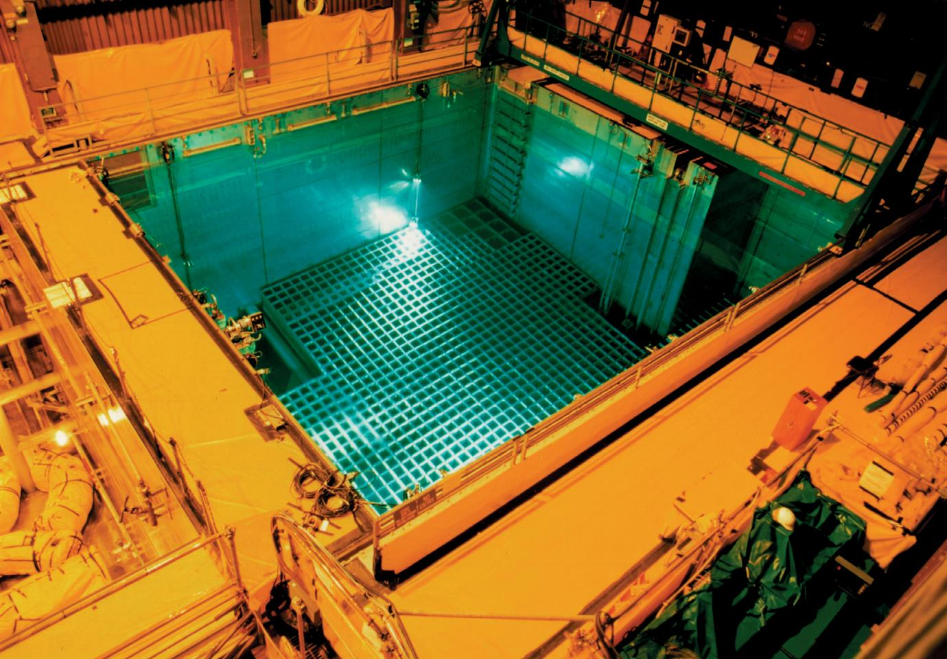 Spent nuclear fuel in a storage pool