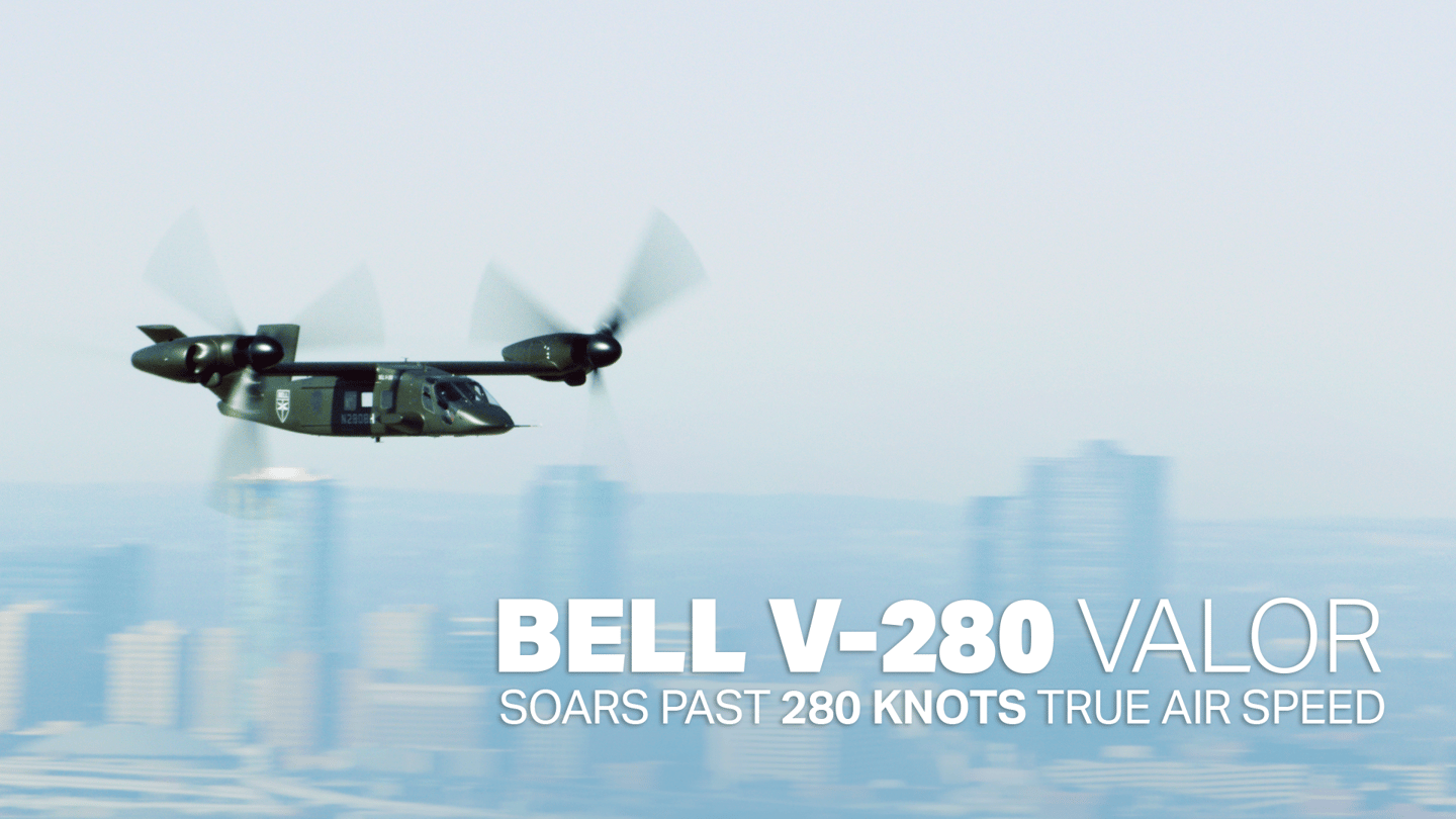 The Bell V-280 tiltrotor can carry 14 troops