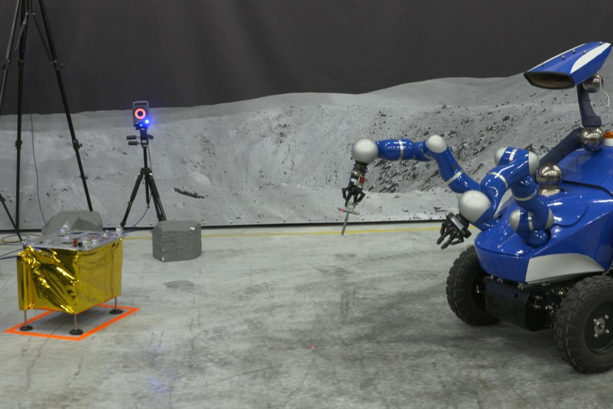 The Interact Rover under direction from ESA astronaut Andreas Mogensen during the Sept. 7 test