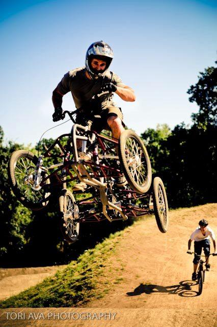 You could do it on a bike, but would it look as fun and awesome?
