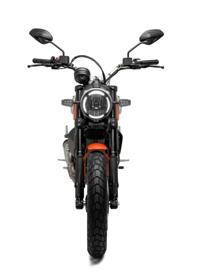 "2019 Ducati Scrambler ""Joyvolution"": X-ed out headlight is a call back to 70s-era racing"