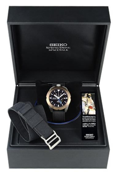 The commemorative limited edition of the Seiko Spring Drive Spacewalk watch