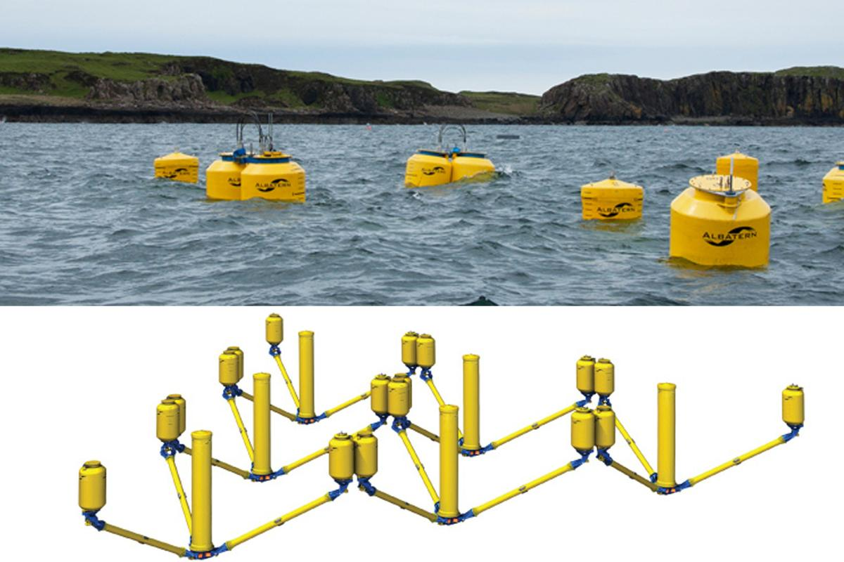 WaveNET - a floating, flexible, modular and massively scalable wave power generation idea under testing in Scotland