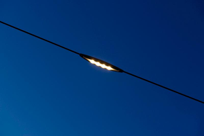 FreeStreet is a suspended street lighting system, that doesn't require streetlight poles