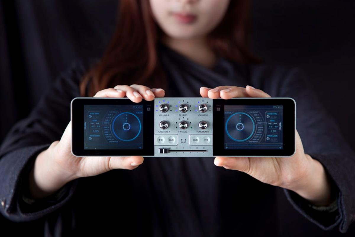The PDJ portable stand-alone DJ system and music production studio