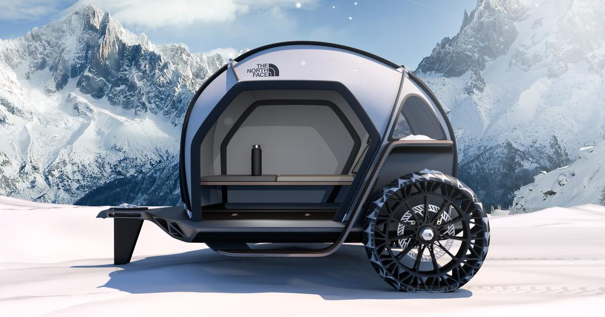 BMW and The North Face team up on cutting edge teardrop tent trailer