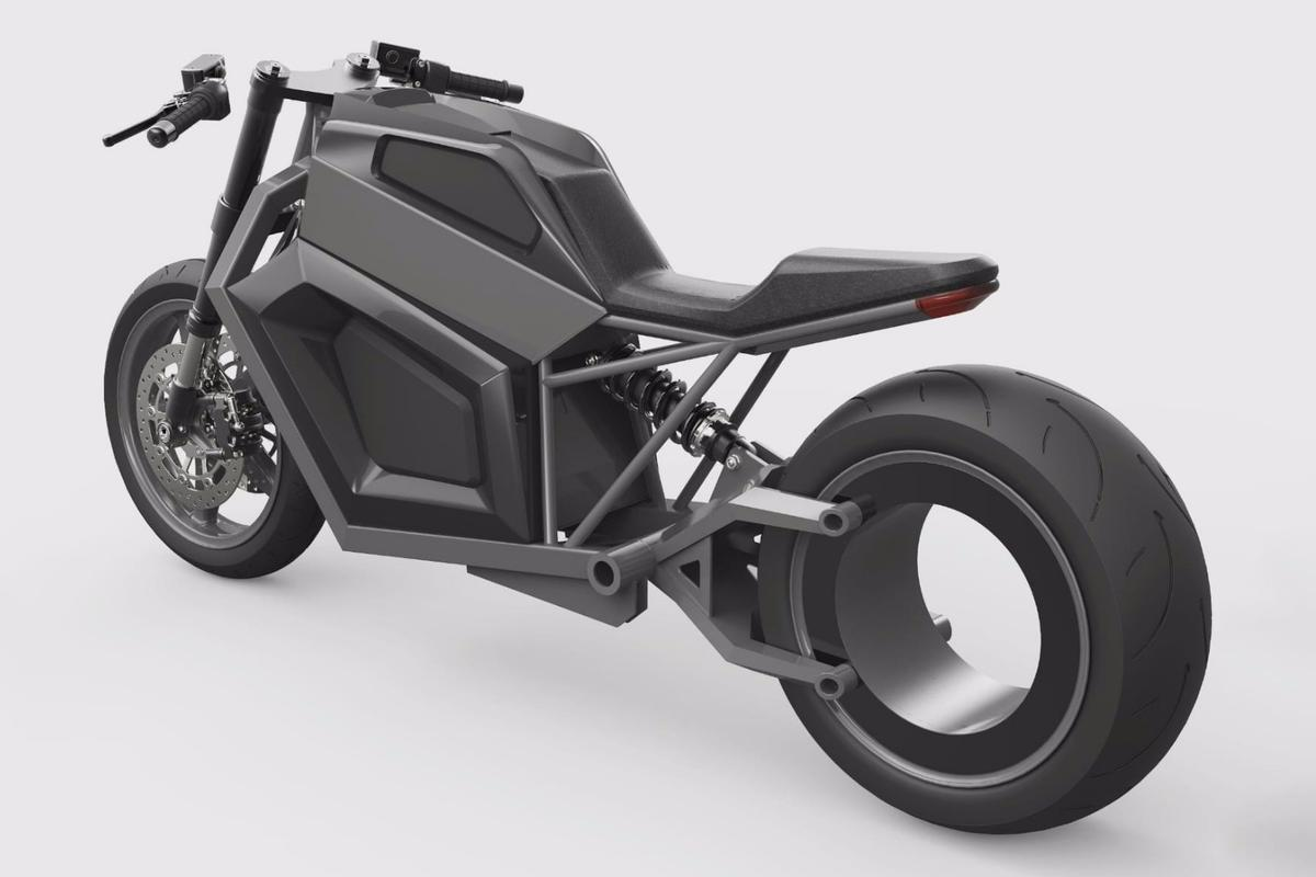 RMK's E2: 67-horsepower, 180-mile electric motorcycle rocks an eye-popping centerless rear hub motor