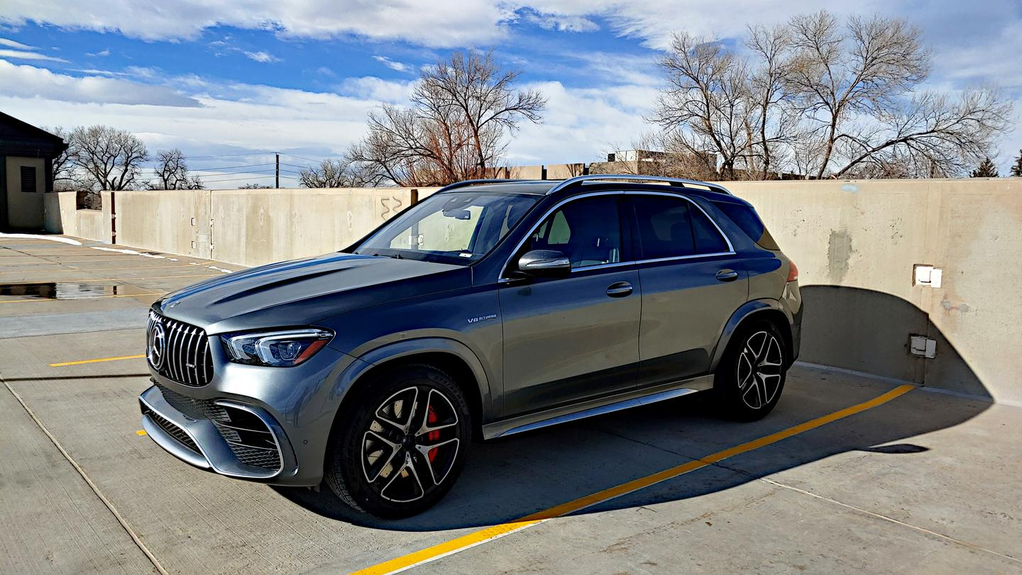 The 2021 Mercedes-AMG GLE 63 is a midsized offering with seating for five and large amounts of cargo space