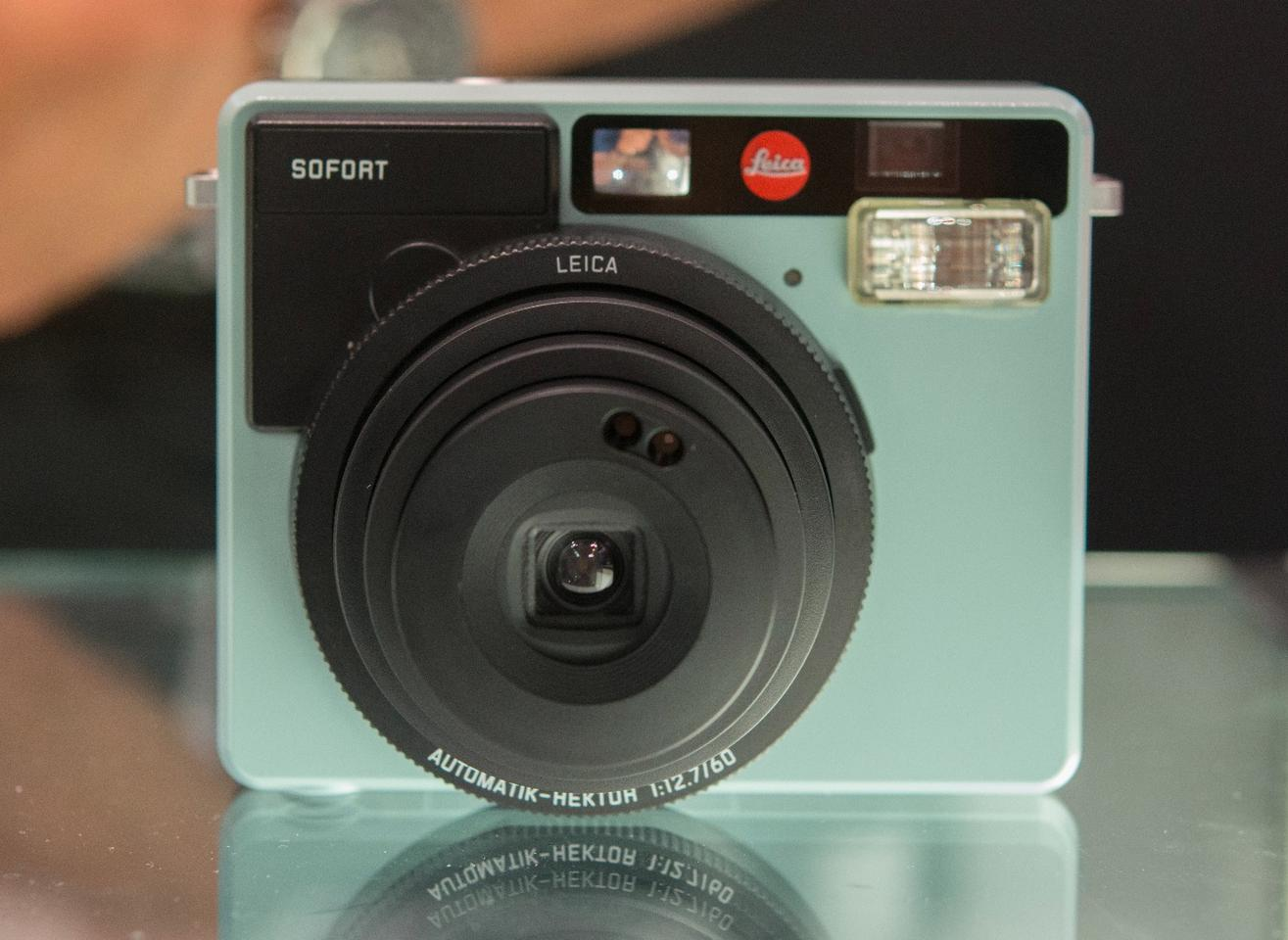 TheLeica Sofort instant camera has a boxy charm to it