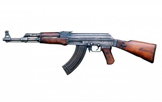 Mikhail Kalashnikov's AK-47 assault rifle