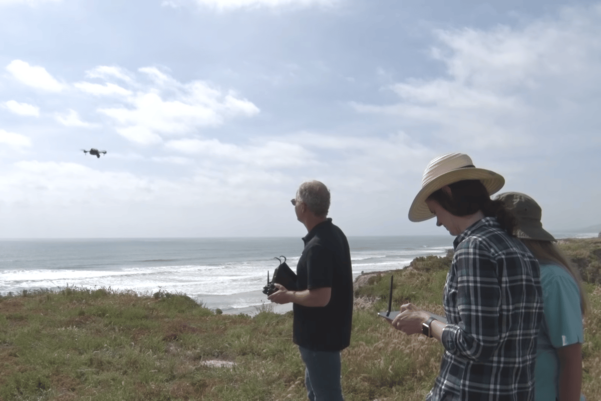 The small MIWRAC drone system sends information back to an Android tablet in real time