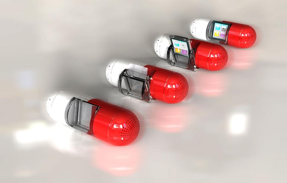 The Pill is a new speaker dock, designed specifically for the sixth-generation iPod nano