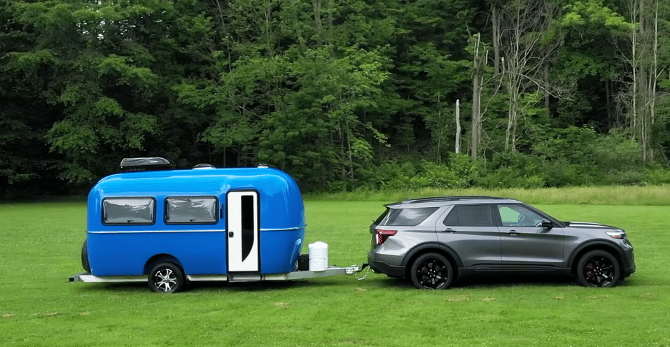 At 1,800 lbs dry, the Cortes 17-foot travel trailer is a lightweight trailer towable by a variety of vehicles