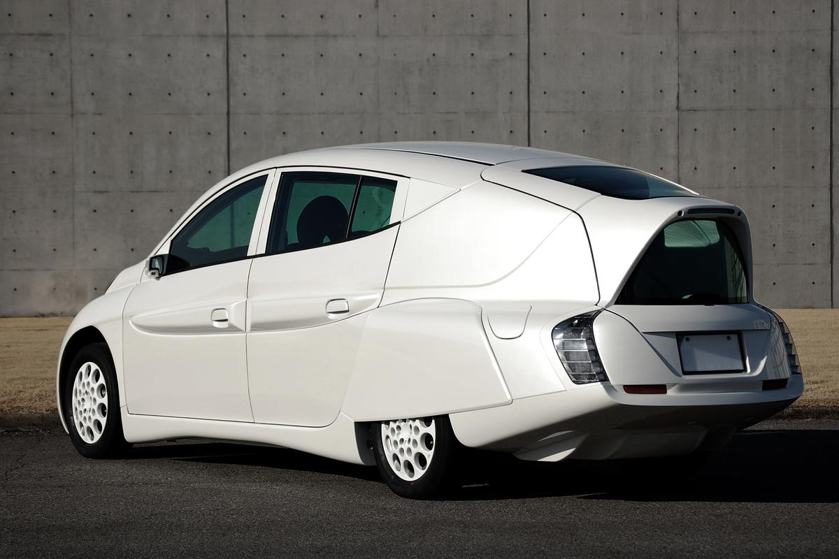 The SIM-LEI's rear overhang is part of its aerodynamic design